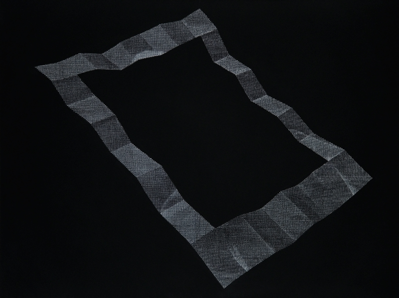 ink dot drawing on black paper,<br>22 x 30 in, 2013